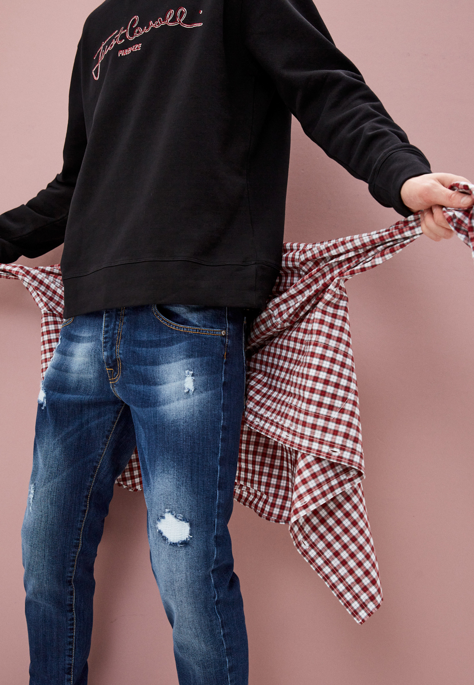 Мужские зауженные джинсы Baldinini (Балдинини) AFMJ01D0025K4: изображение 2