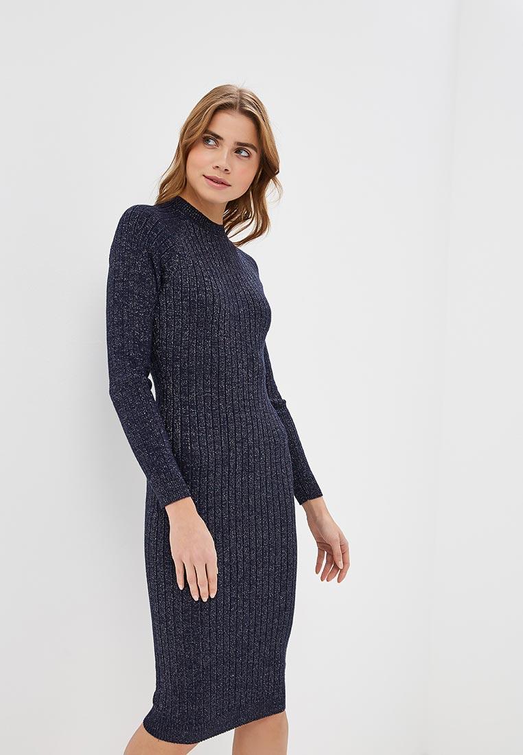 2a9762a4fca Вязаное платье женское Befree (Бифри) 1841067516 цвет синий купить ...