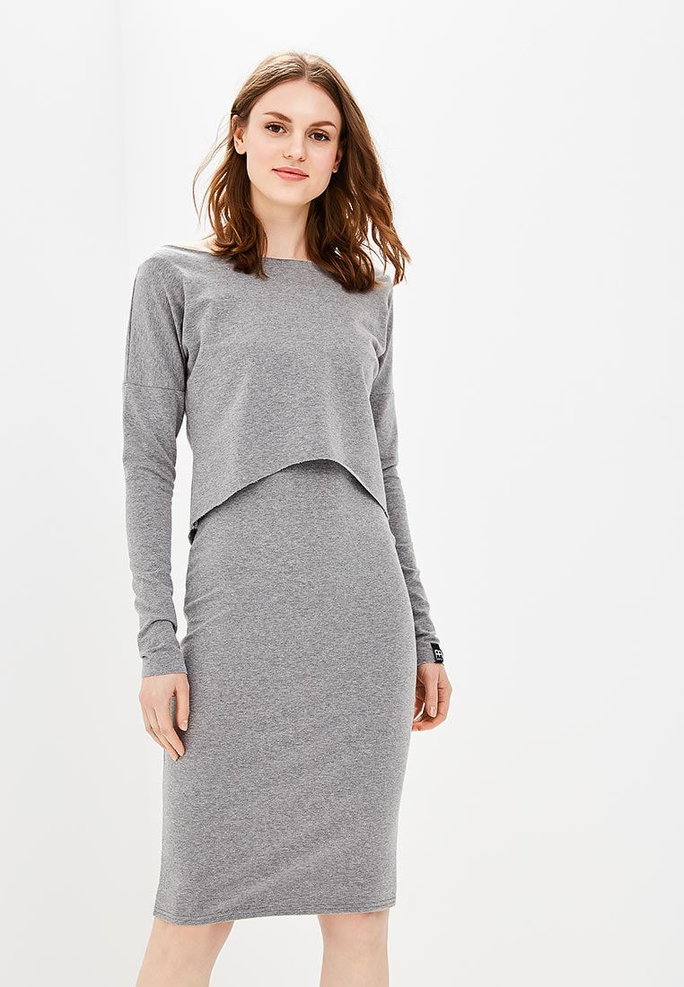 Вязаное платье BeWear b001-grey