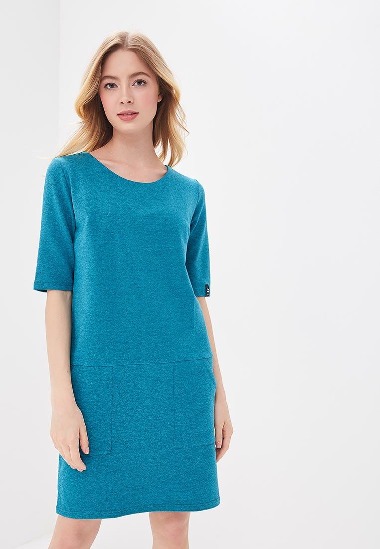 Вязаное платье BeWear B033-emerald