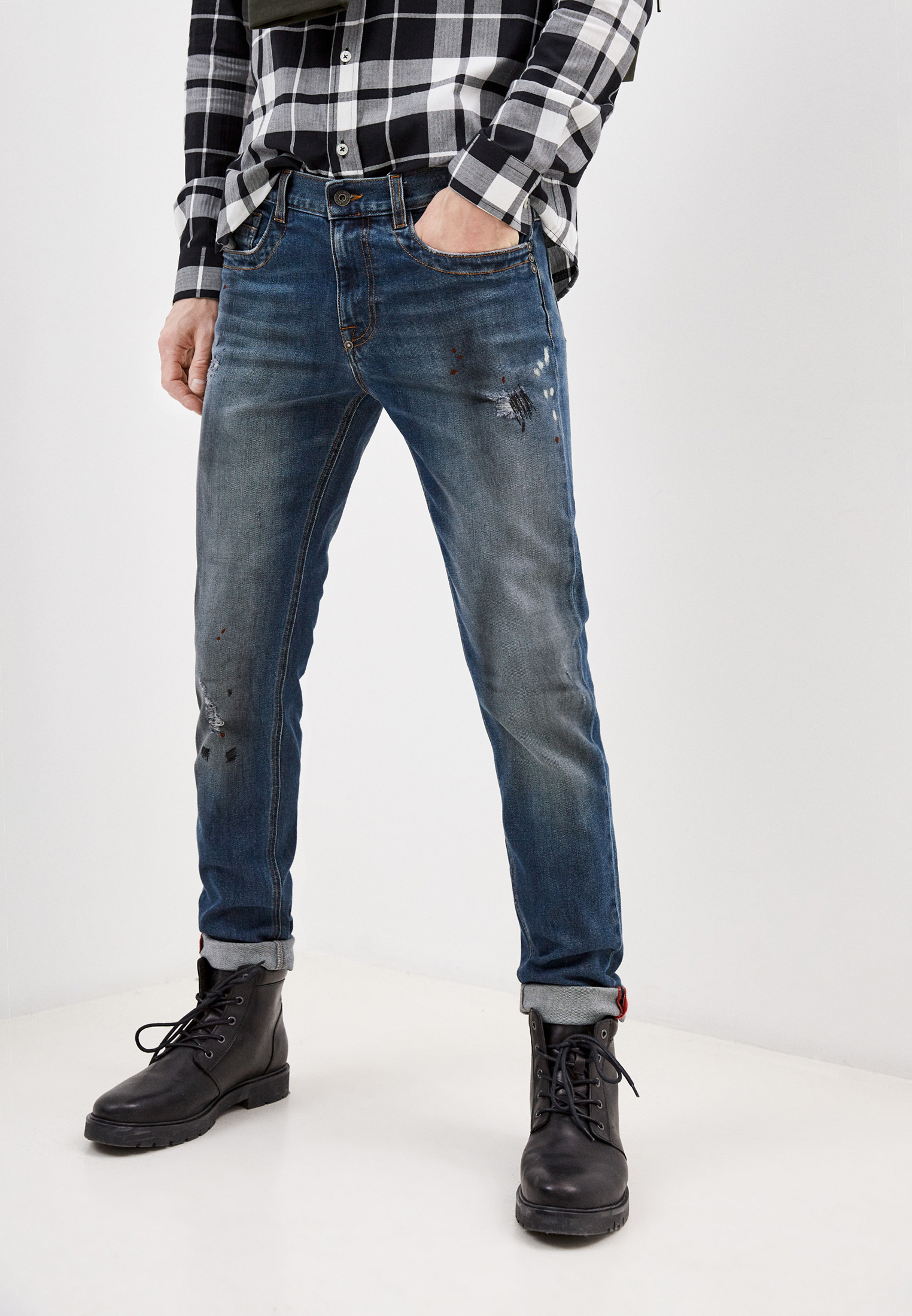 Мужские зауженные джинсы Bikkembergs (Биккембергс) C Q 101 10 S 3333