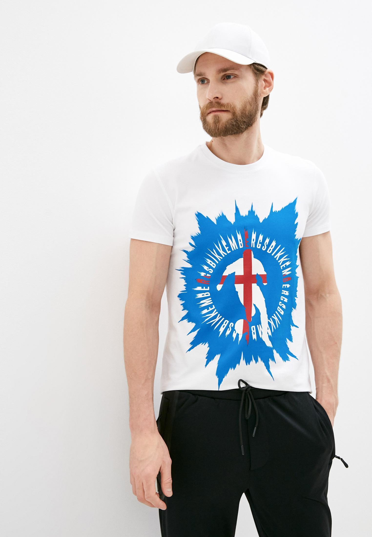 Мужская футболка Bikkembergs (Биккембергс) C426BE1B0383