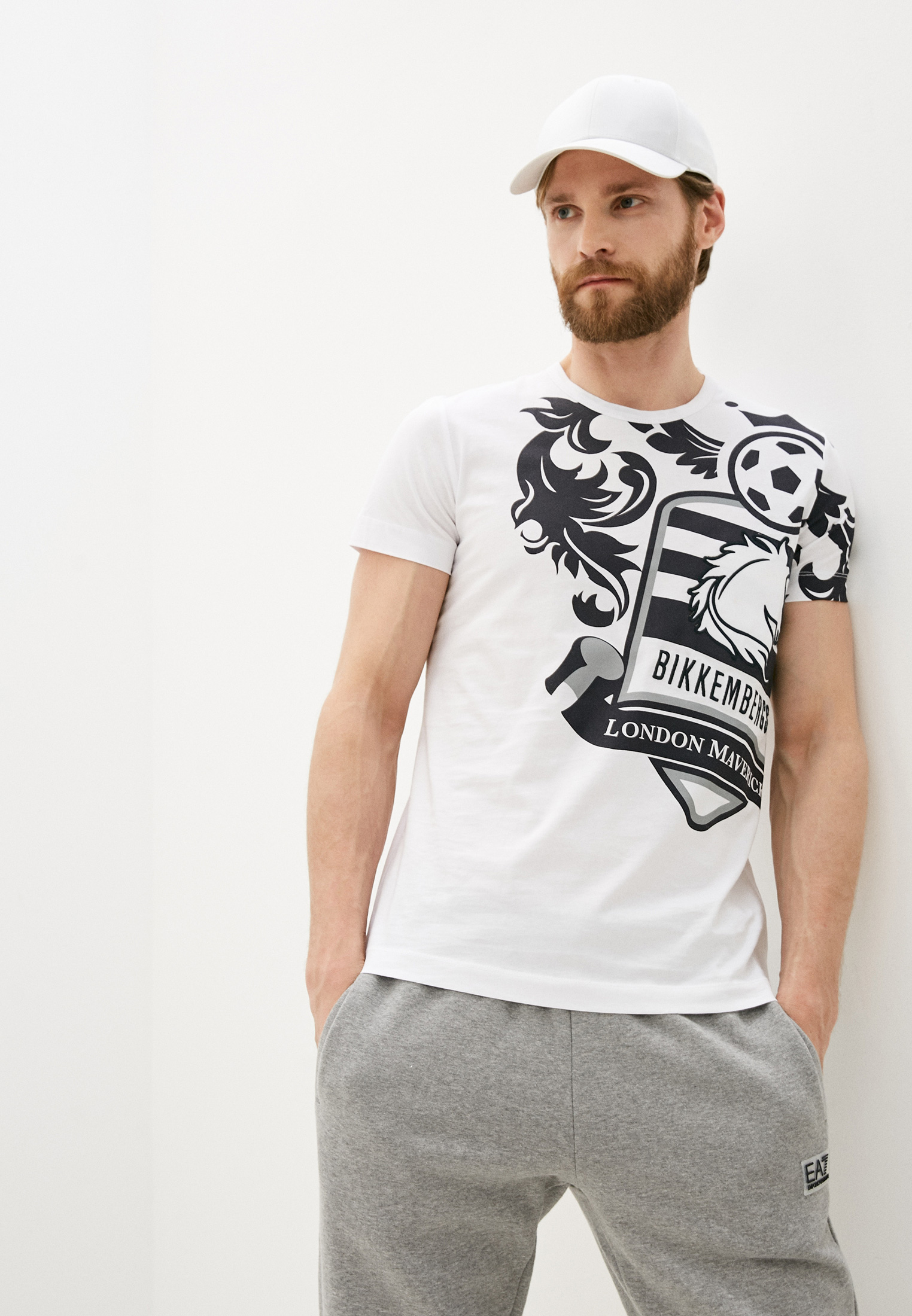 Мужская футболка Bikkembergs (Биккембергс) C452BE1B0391: изображение 1