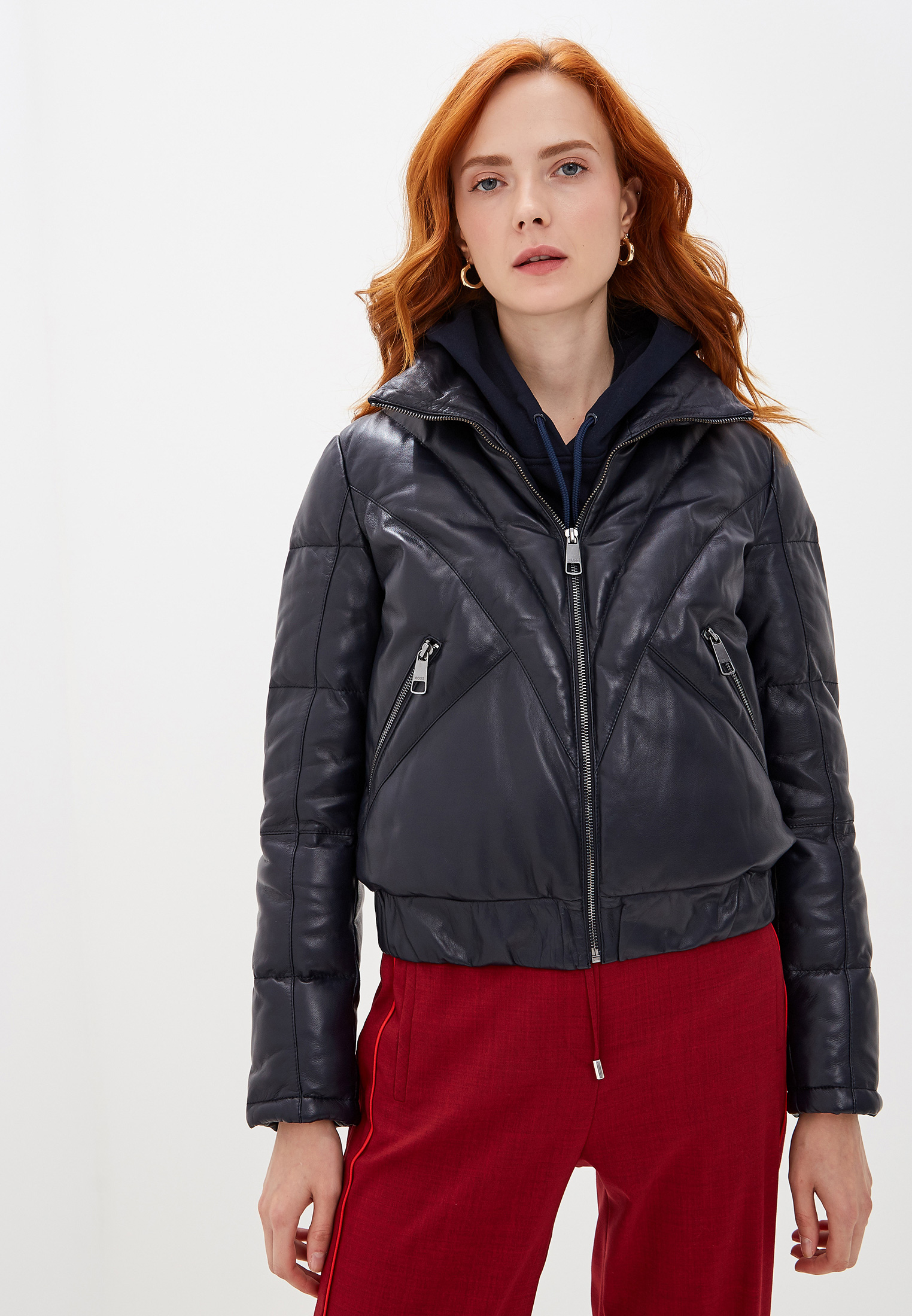 Кожаная куртка Boss 50414276