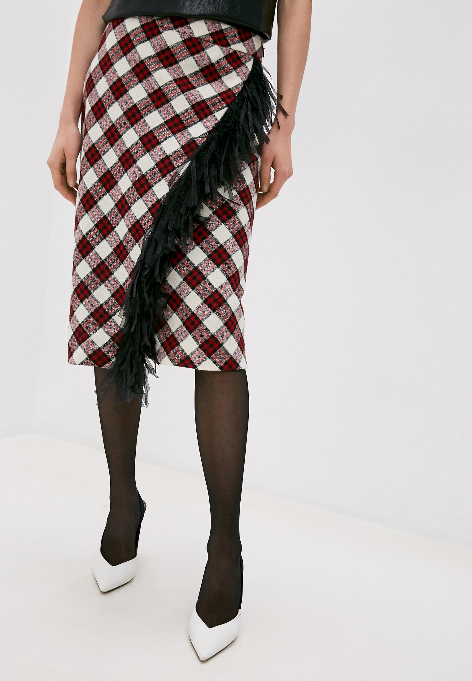 Прямая юбка Boutique Moschino A01146117