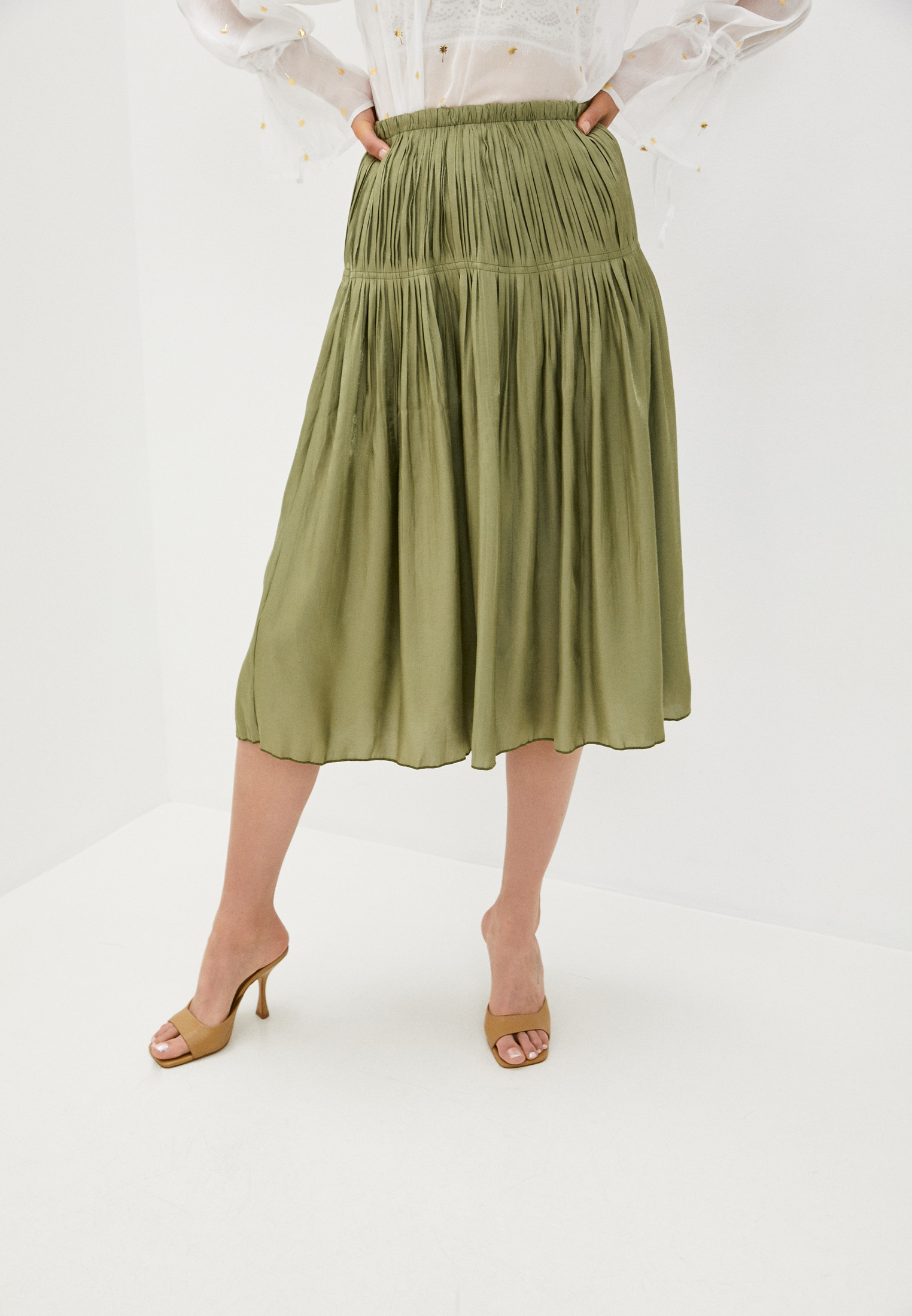 Широкая юбка B.Style NR12-4217