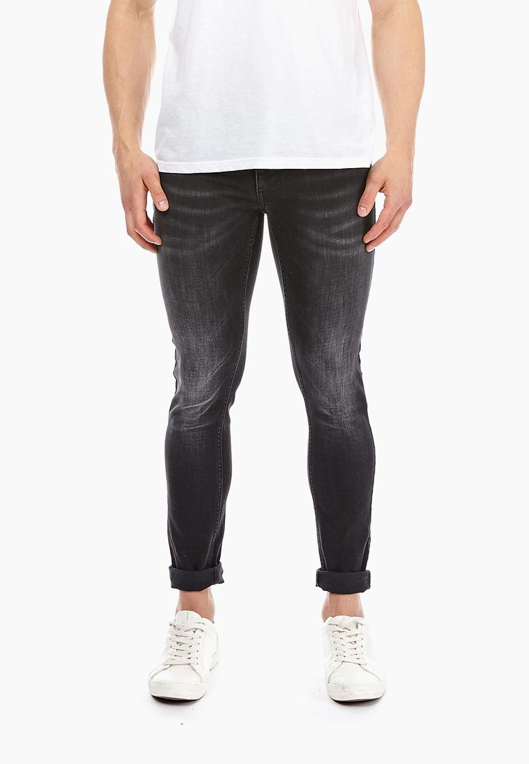 Зауженные джинсы Burton Menswear London 12P02NBLK