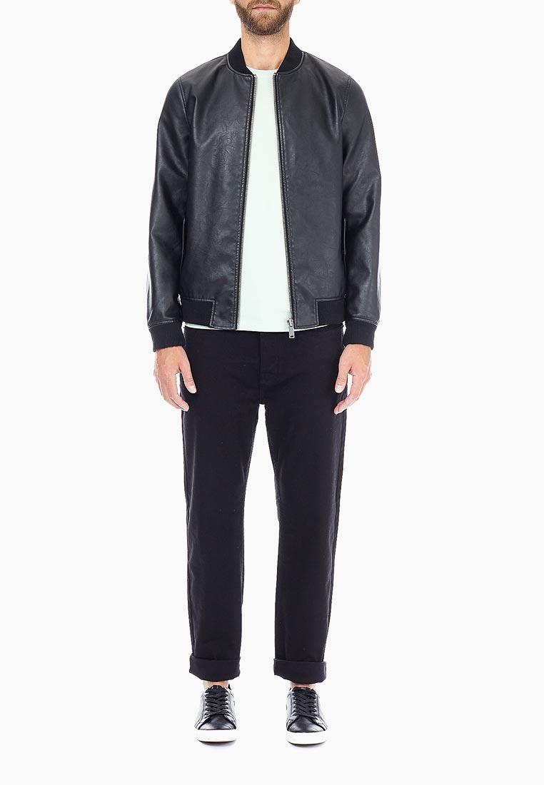 Кожаная куртка Burton Menswear London 06B12NBLK