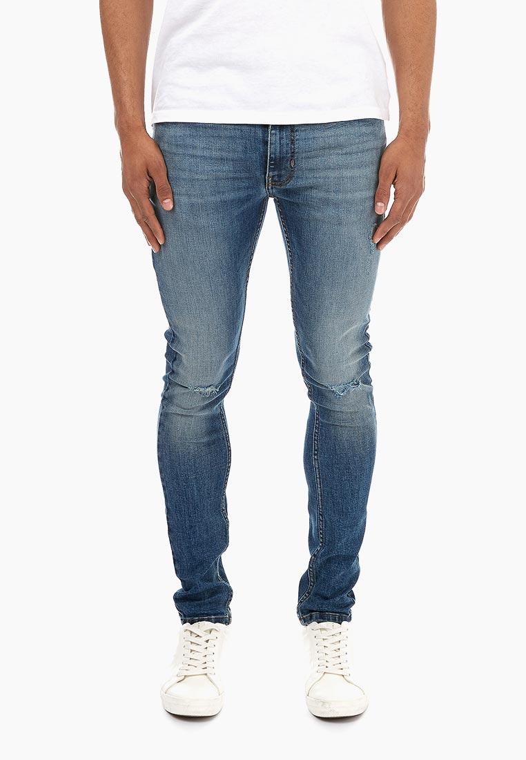 Зауженные джинсы Burton Menswear London 12S01NBLU