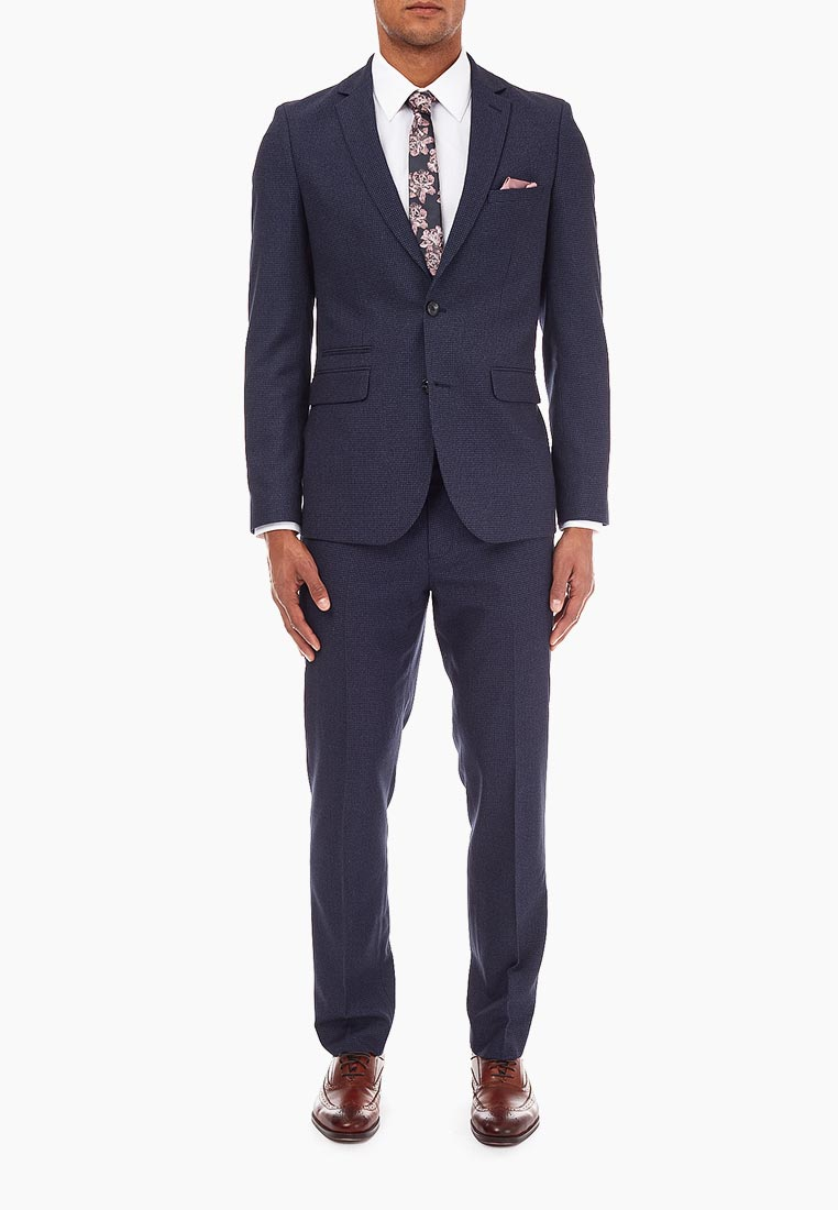 Мужские классические брюки Burton Menswear London 02S10NBLU