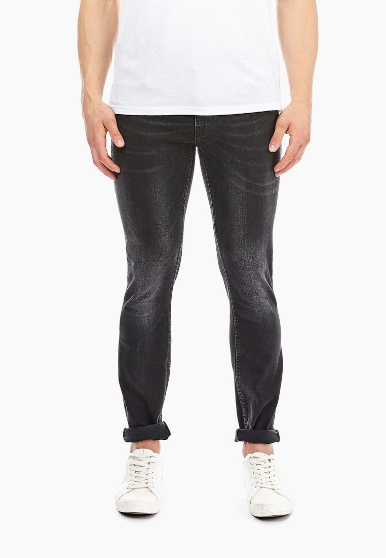 Зауженные джинсы Burton Menswear London 12K01NBLK