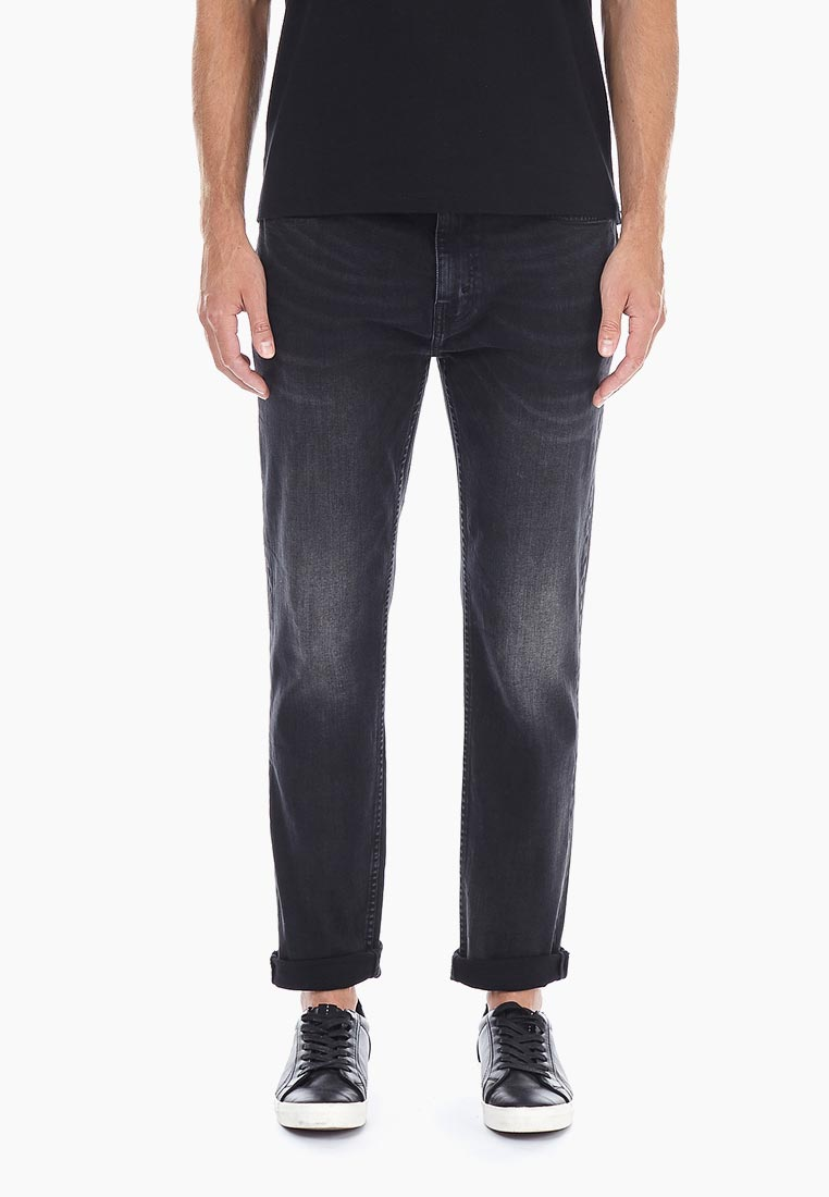 Мужские прямые джинсы Burton Menswear London 12A01NBLK