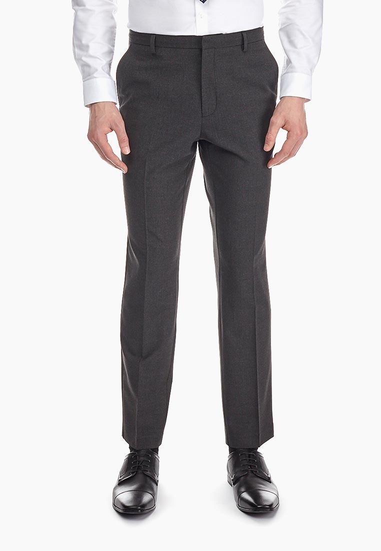 Мужские зауженные брюки Burton Menswear London 23S11MGRY
