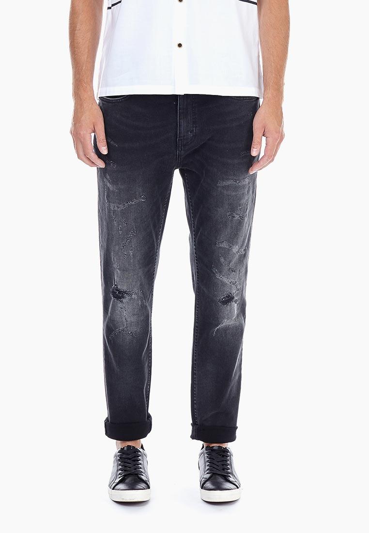 Мужские прямые джинсы Burton Menswear London 12A02NBLK