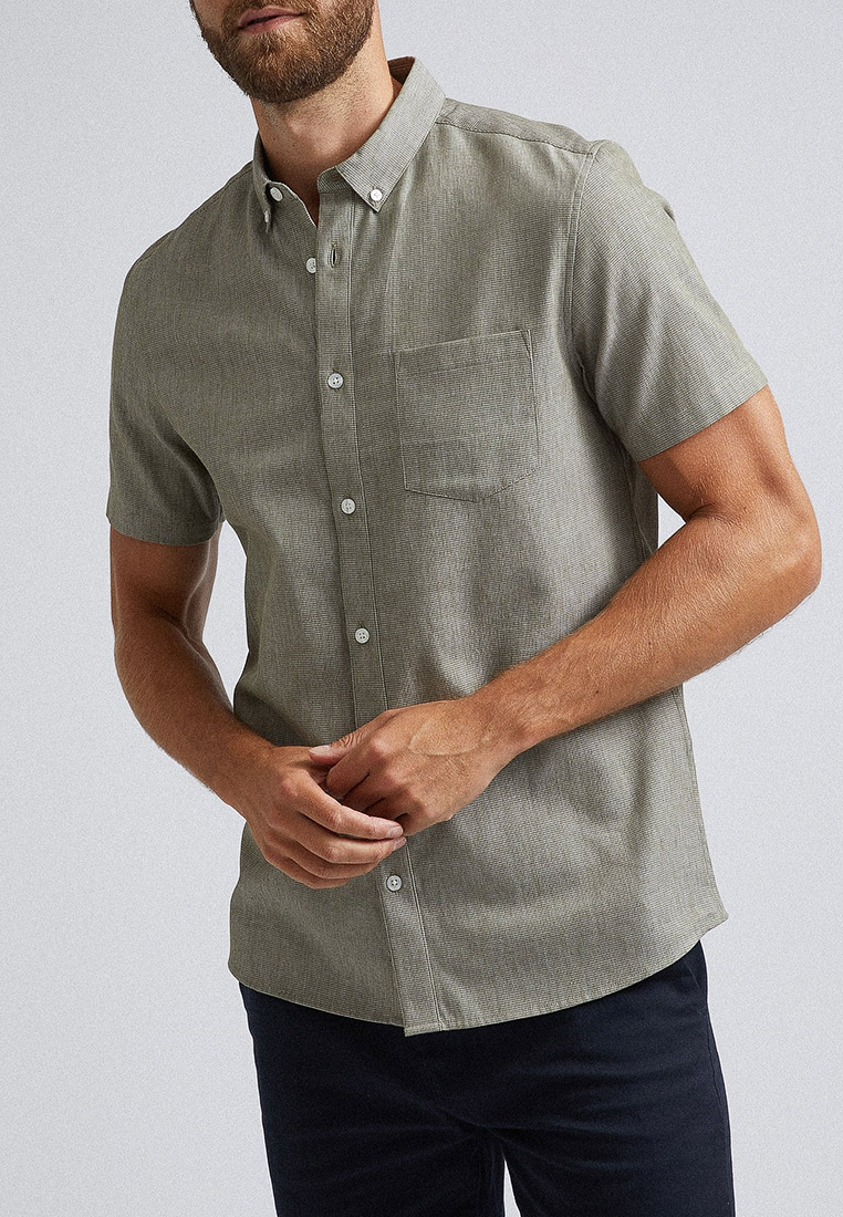 Рубашка с длинным рукавом Burton Menswear London 22T01PGRN