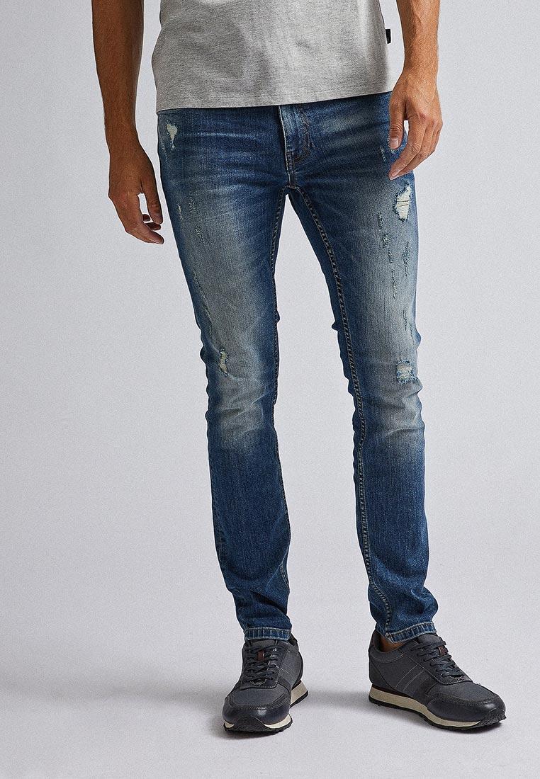 Зауженные джинсы Burton Menswear London 12K05PBLU