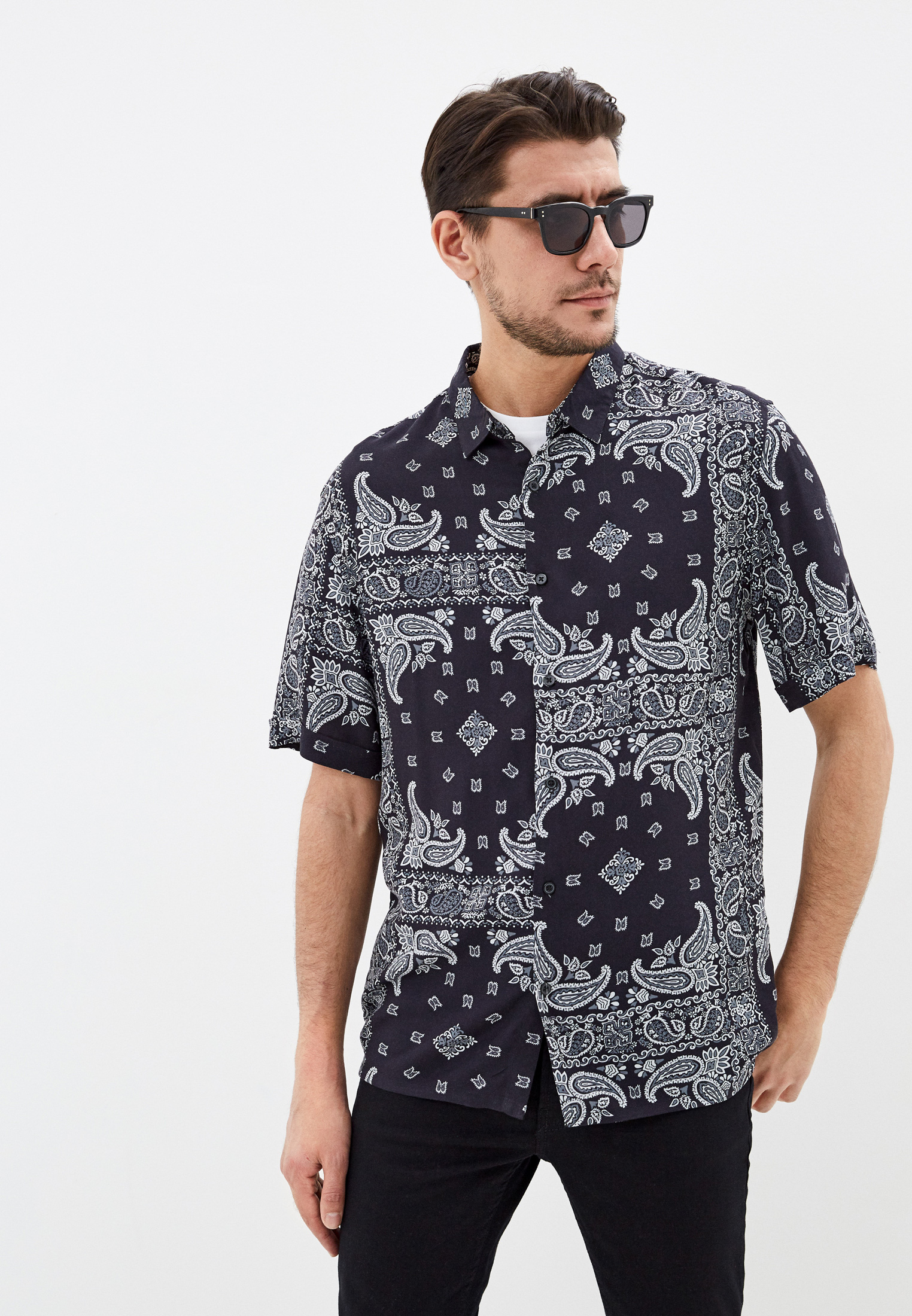 Рубашка с длинным рукавом Burton Menswear London 22S21QBLK