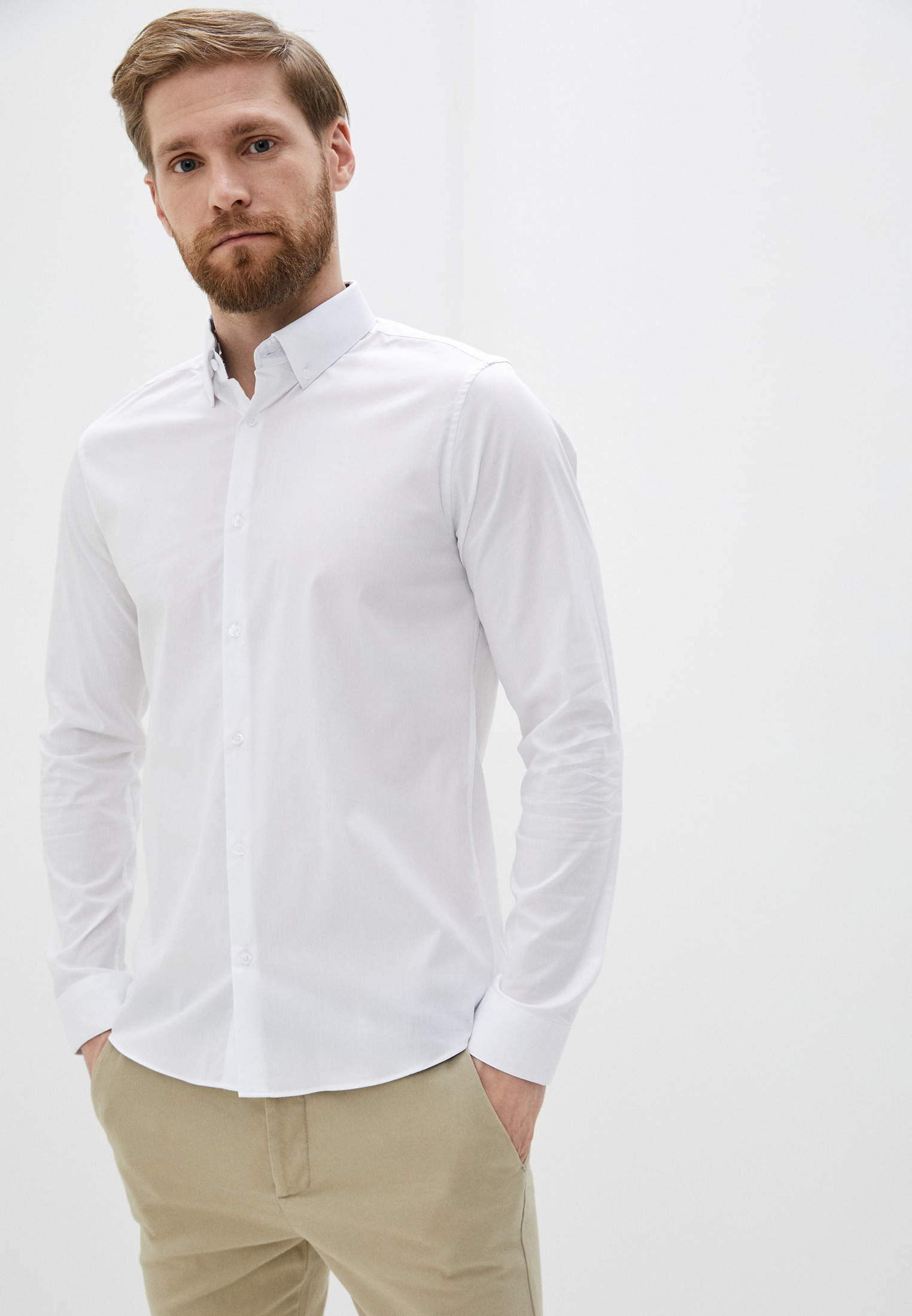 Рубашка с длинным рукавом Burton Menswear London 19F15PWHT