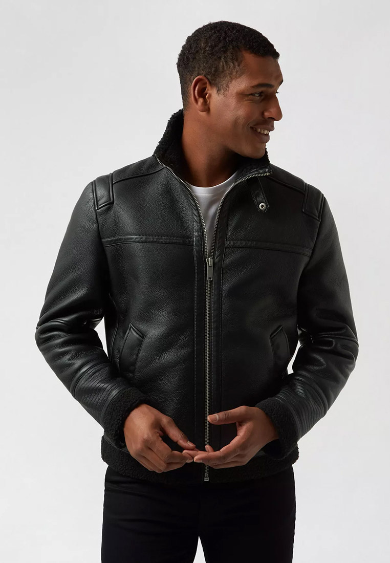 Кожаная куртка Burton Menswear London Куртка кожаная Burton Menswear London
