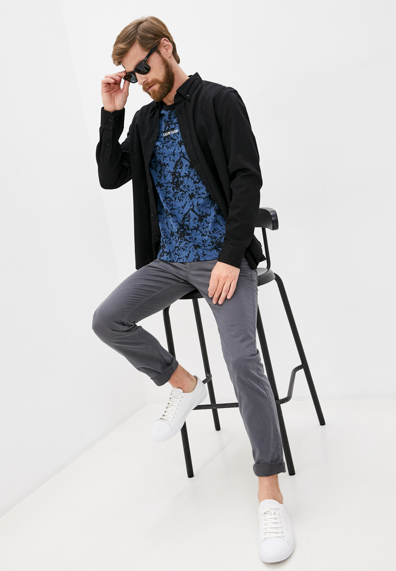 Рубашка с длинным рукавом Calvin Klein (Кельвин Кляйн) k10k105993: изображение 3