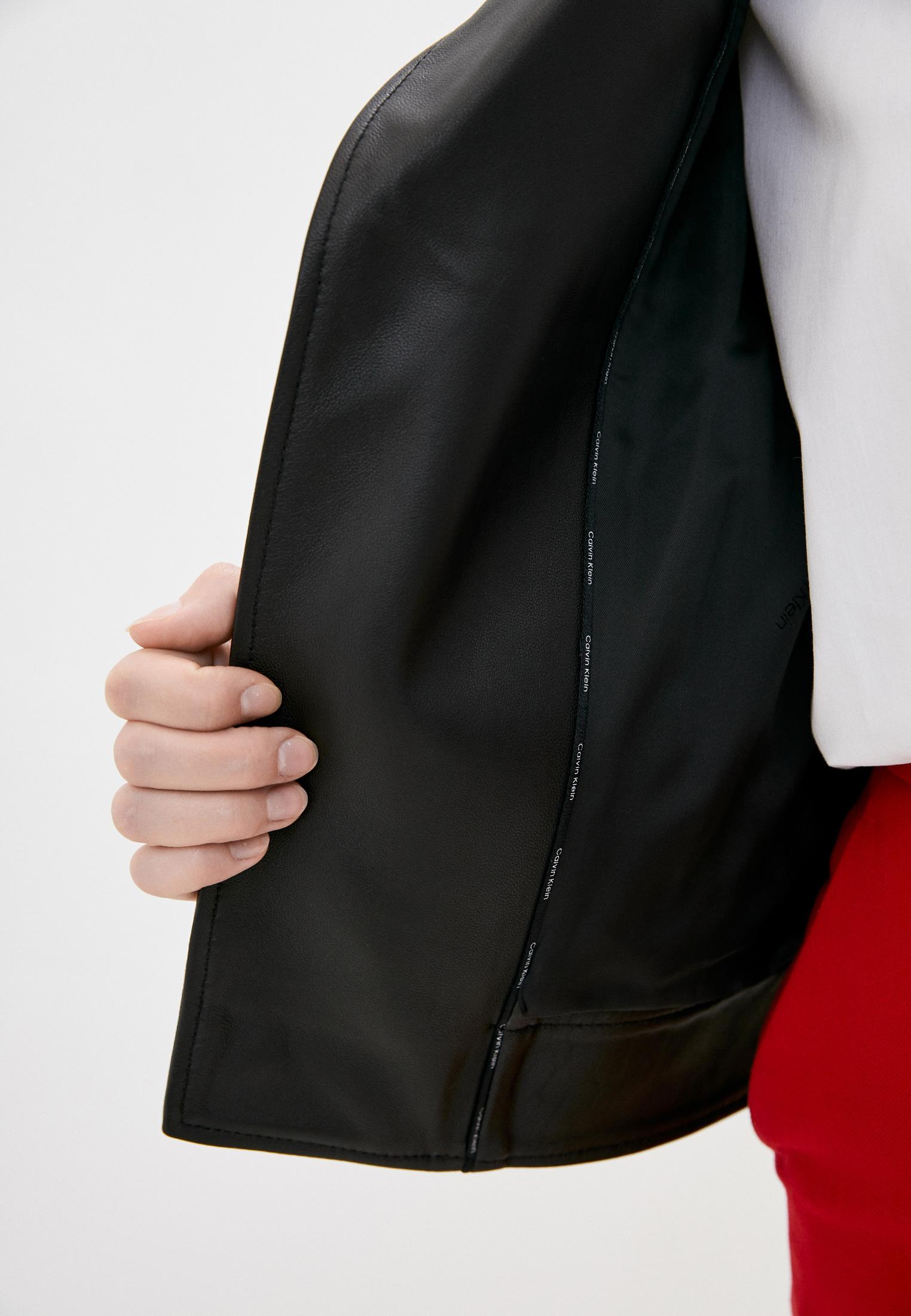 Кожаная куртка Calvin Klein (Кельвин Кляйн) K20K202057: изображение 4