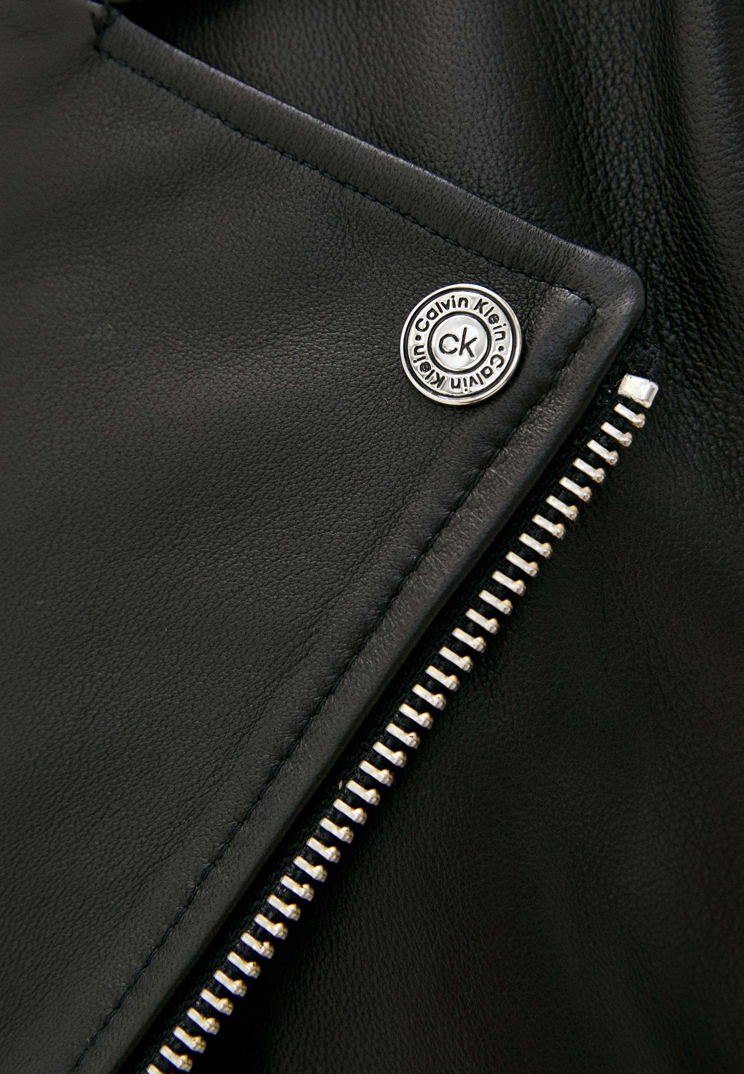 Кожаная куртка Calvin Klein (Кельвин Кляйн) K20K202057: изображение 5