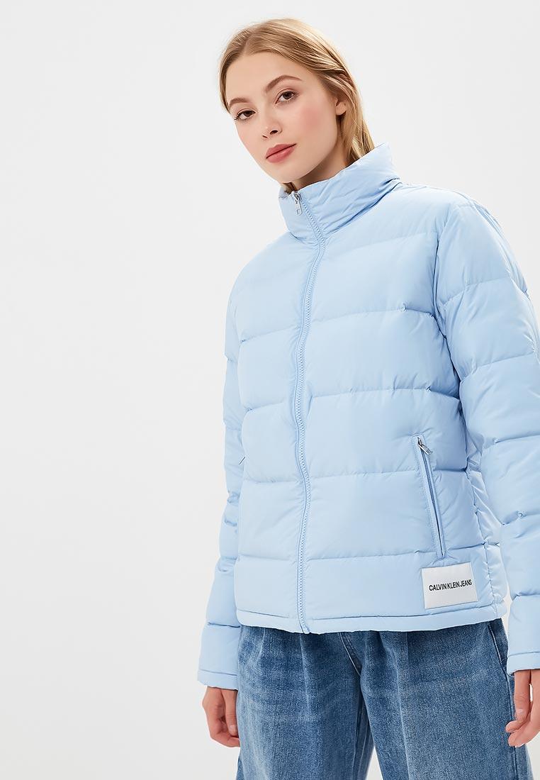 26088ee763c Утепленная куртка женская Calvin Klein Jeans J20J208595 цвет голубой ...