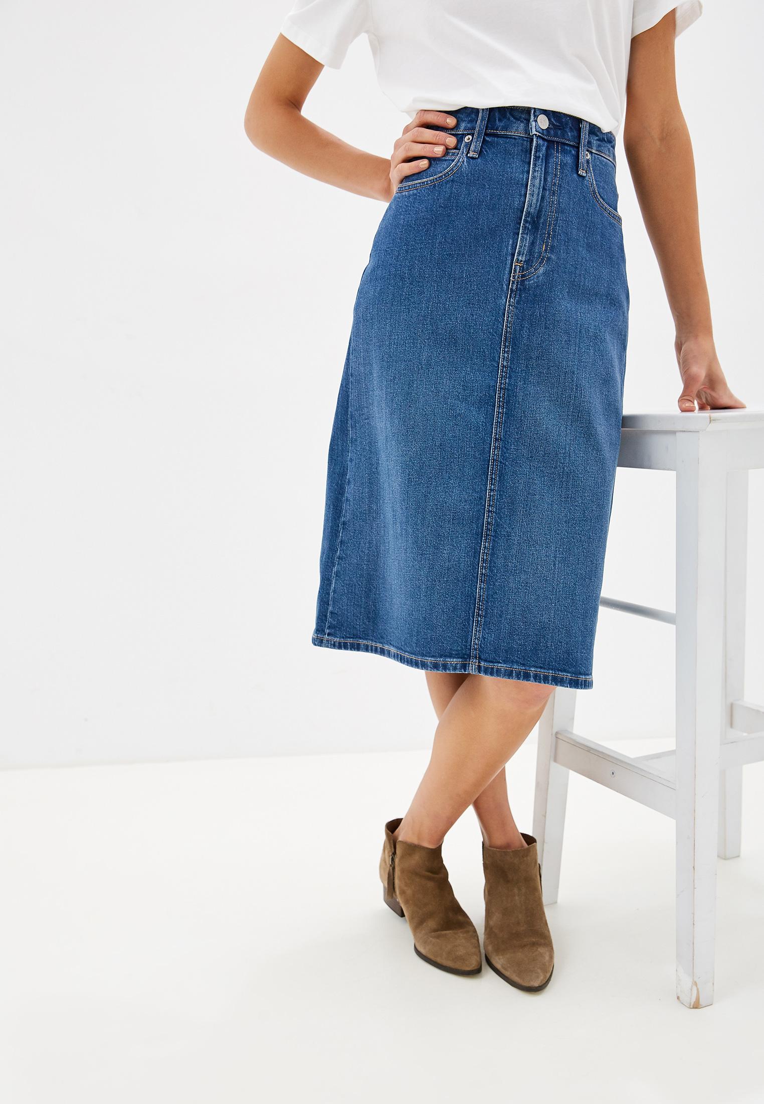 Джинсовая юбка Calvin Klein Jeans J20J211426