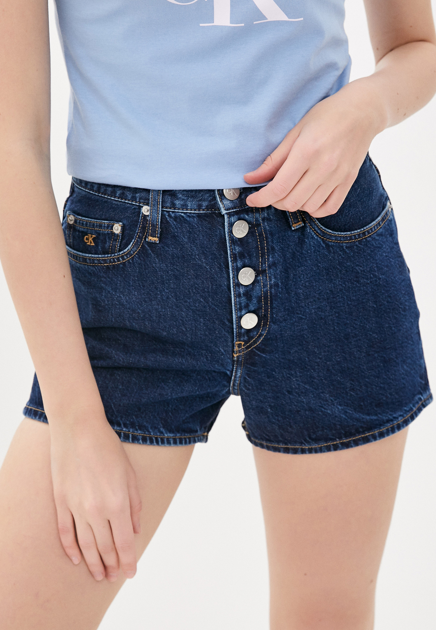 Женские джинсовые шорты Calvin Klein Jeans J20J213866