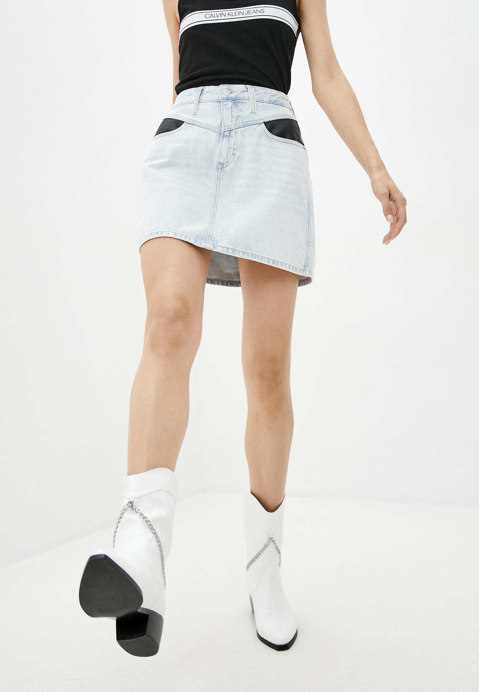 Джинсовая юбка Calvin Klein Jeans J20J214035: изображение 1