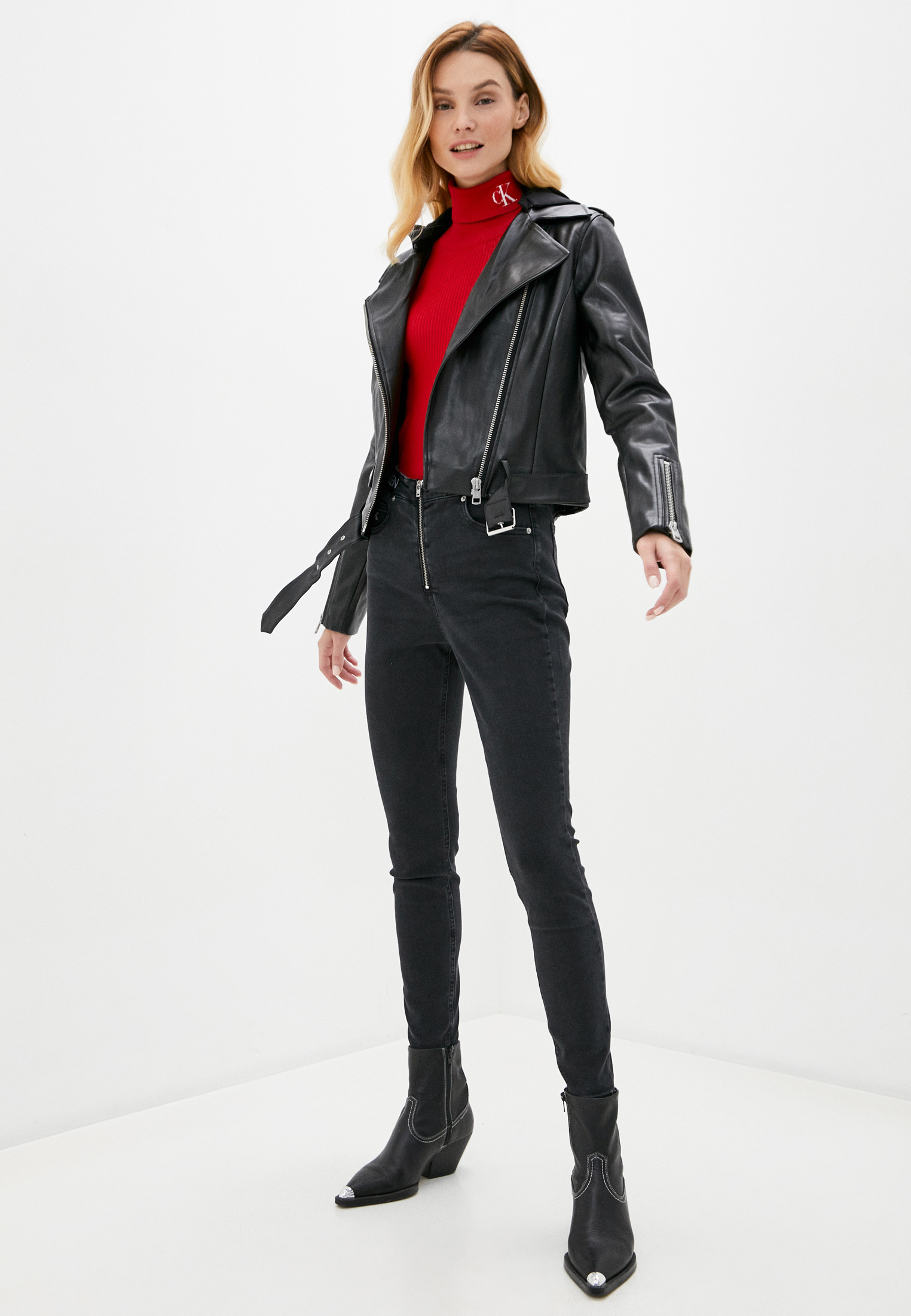 Кожаная куртка Calvin Klein Jeans J20J215034: изображение 2