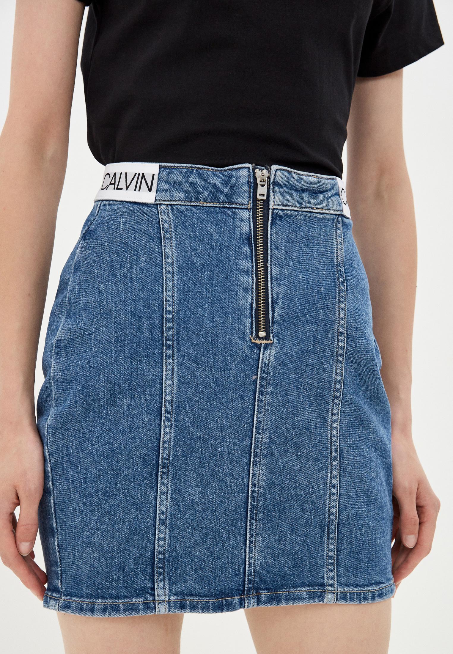 Джинсовая юбка Calvin Klein Jeans J20J214579: изображение 1