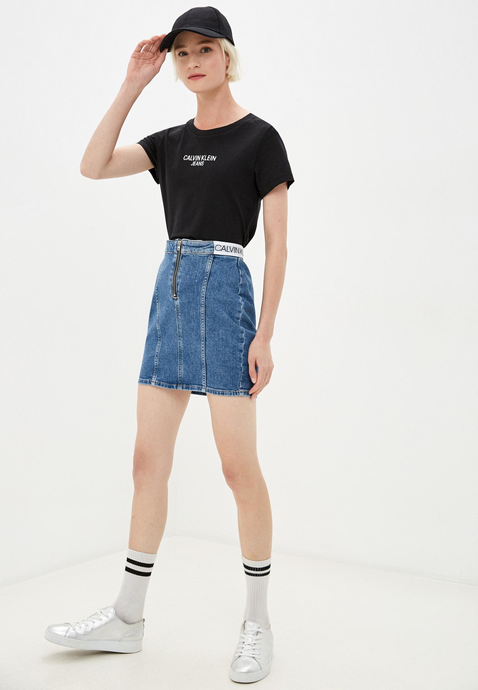 Джинсовая юбка Calvin Klein Jeans J20J214579: изображение 2