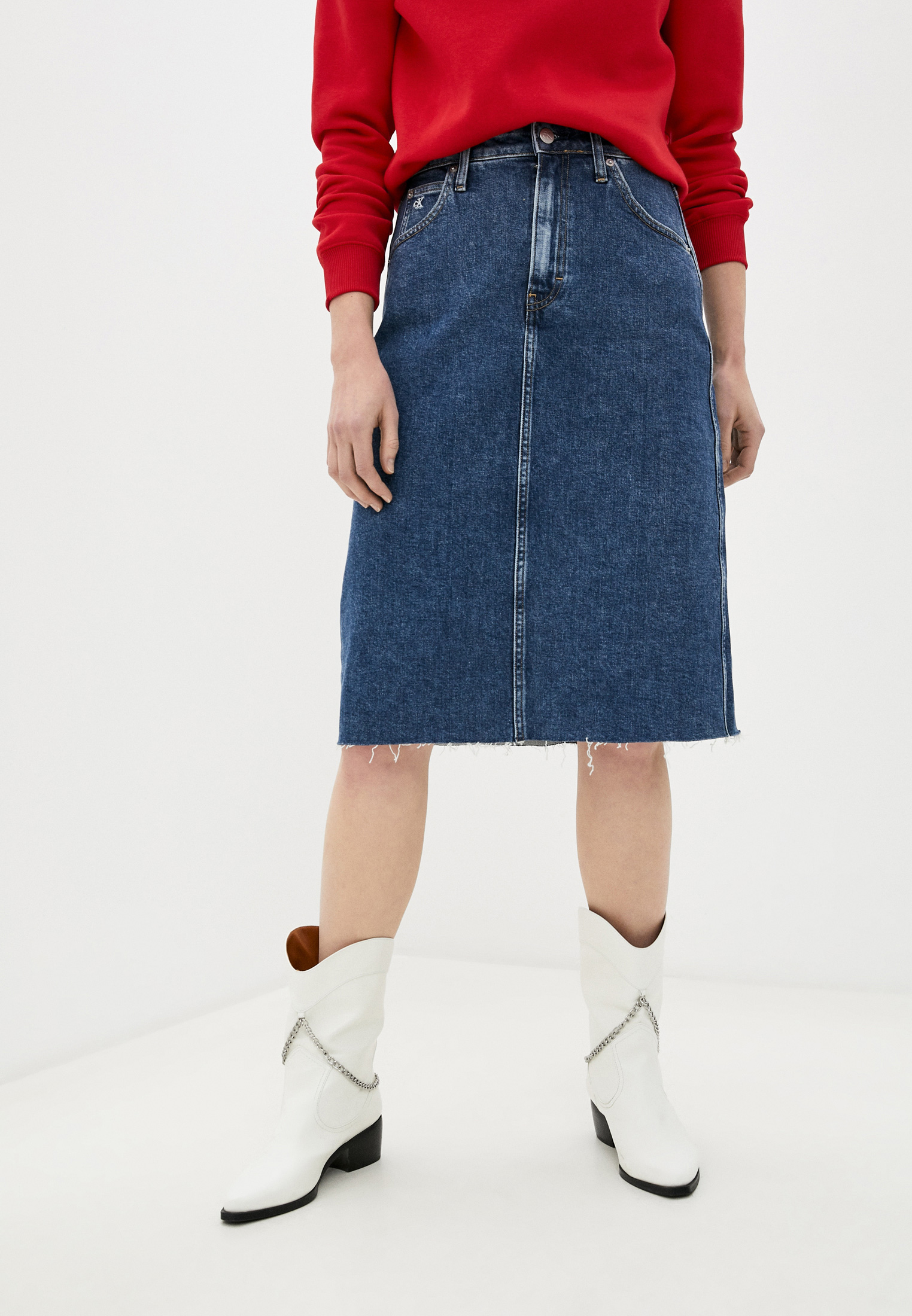 Джинсовая юбка Calvin Klein Jeans J20J214609