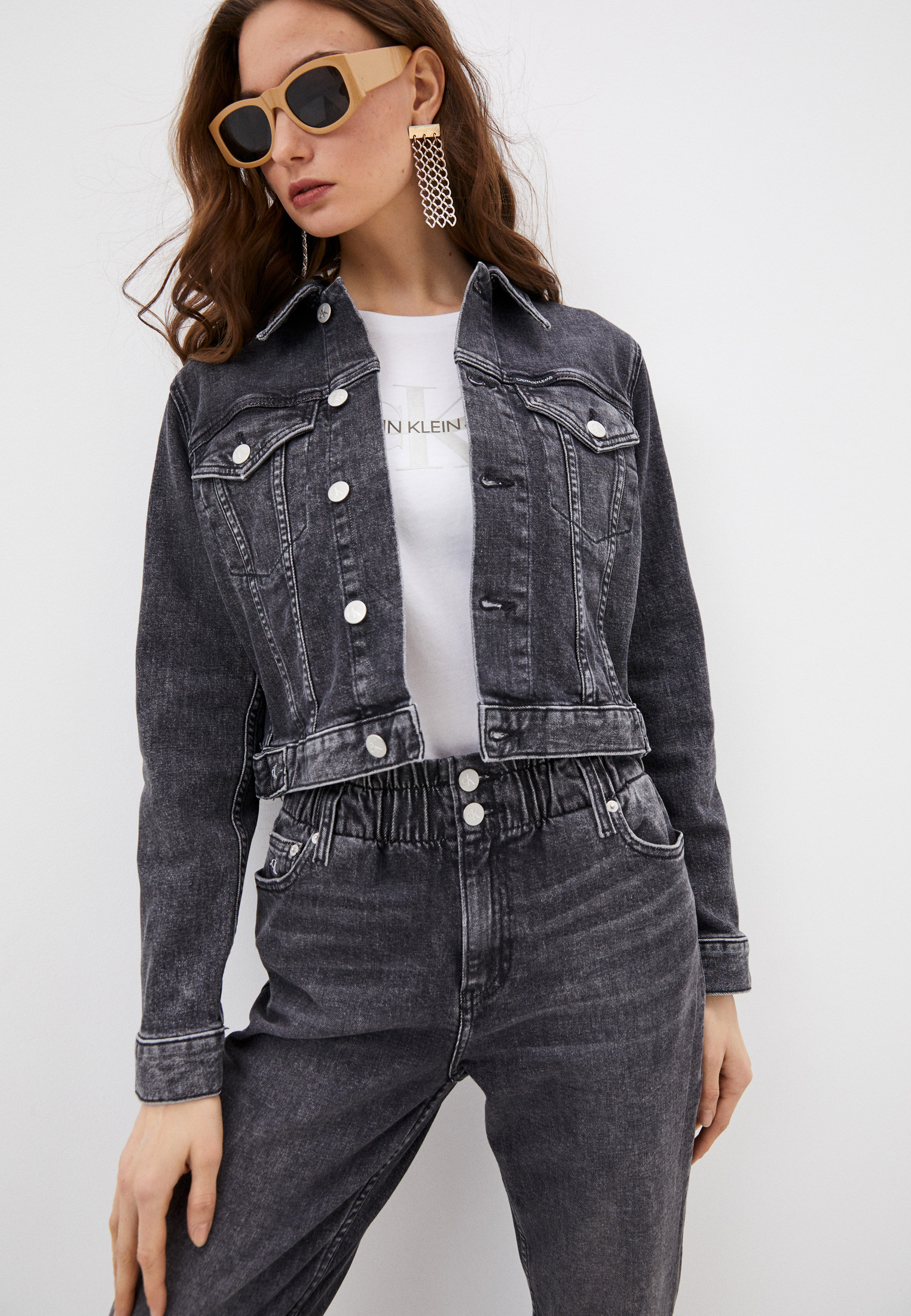 Джинсовая куртка Calvin Klein Jeans Куртка утепленная Calvin Klein Jeans