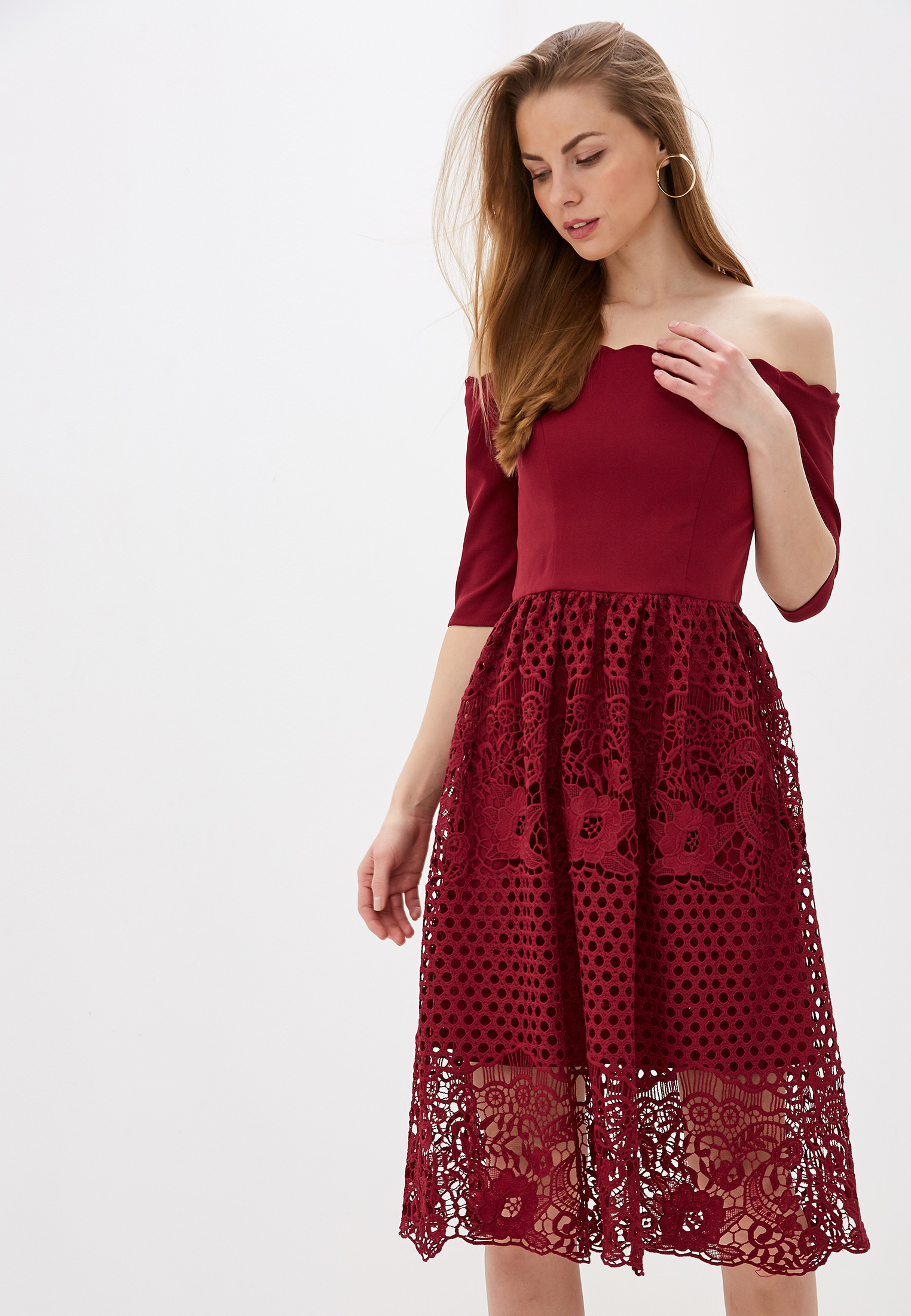 Вечернее / коктейльное платье Chi Chi London 52516BUR