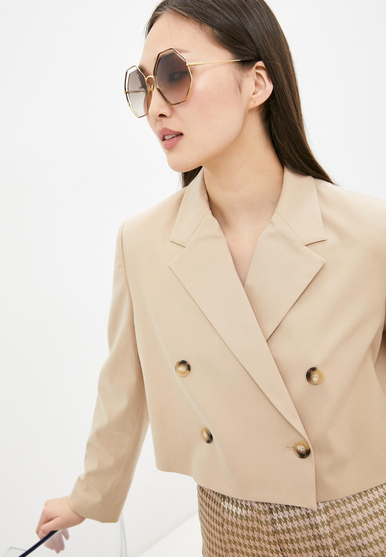 Женские солнцезащитные очки Chloe CH0046S: изображение 6