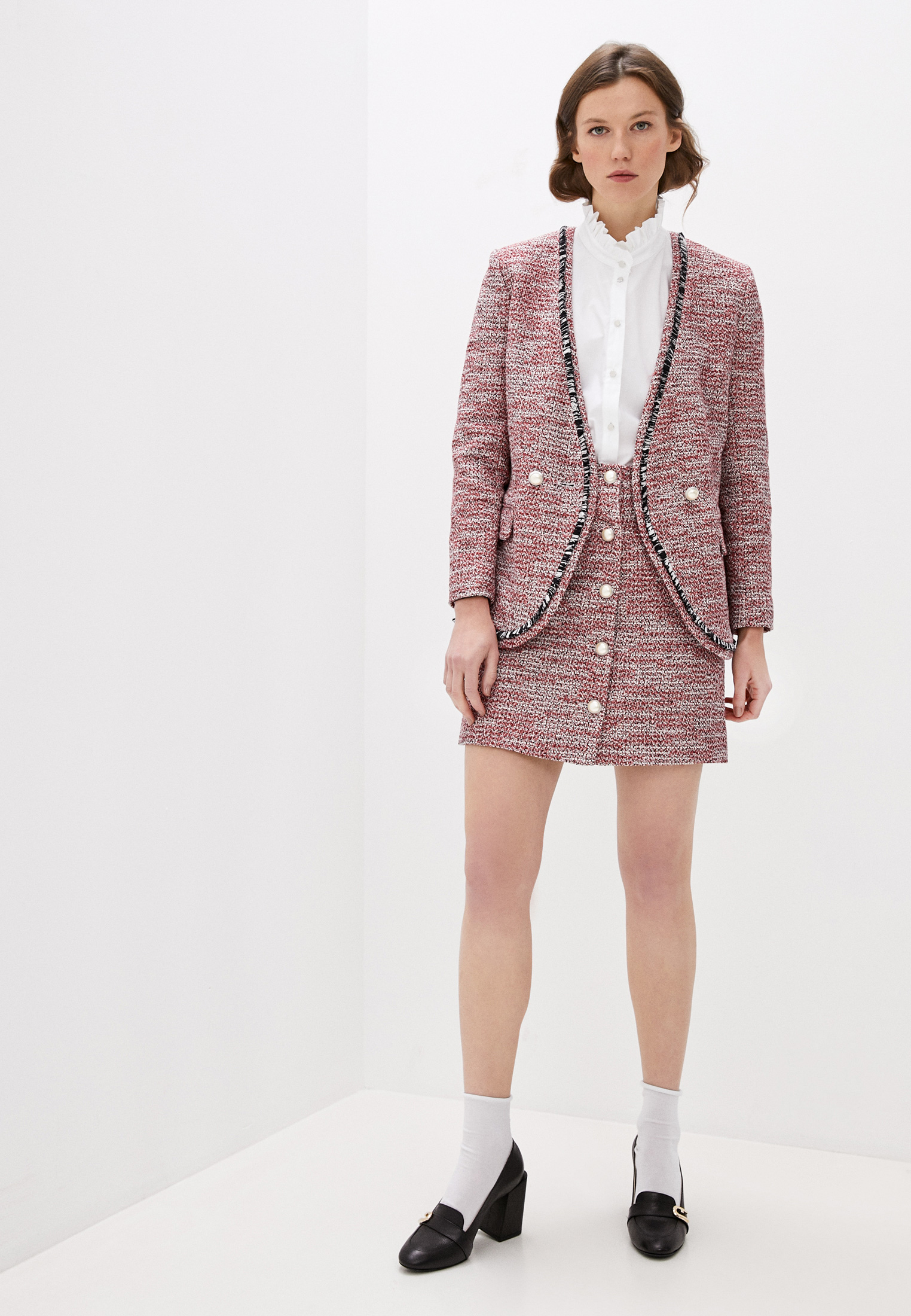 Прямая юбка Claudie Pierlot CFPJU00128: изображение 3
