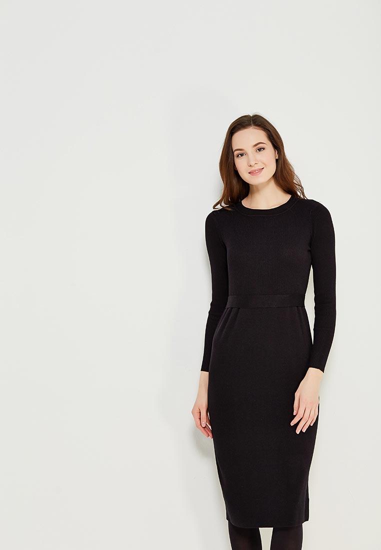 Вязаное платье Conso Wear KWDL170762 - black
