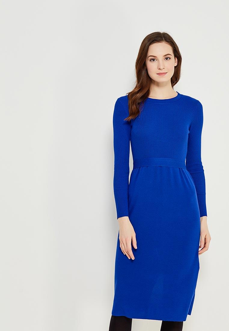 Вязаное платье Conso Wear KWDL170762 - royal blue