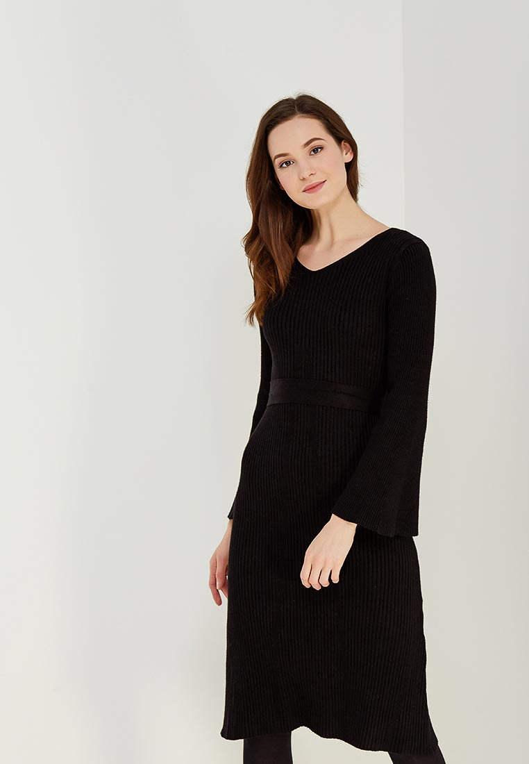 Вязаное платье Conso Wear KWDL170786 - black
