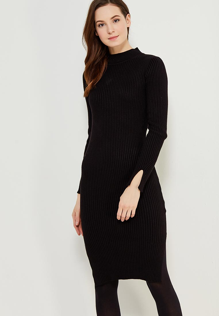 Вязаное платье Conso Wear KWDL170788 - black