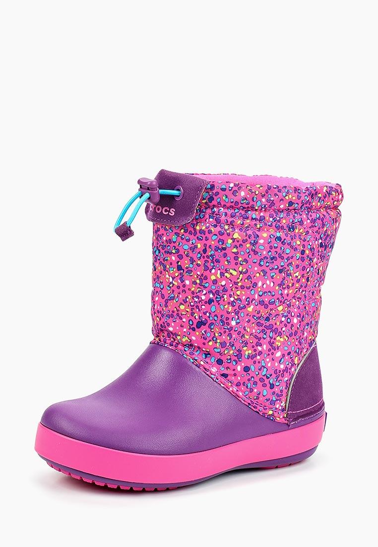 Дутики для девочек  Crocs (Крокс) 204829-6FF