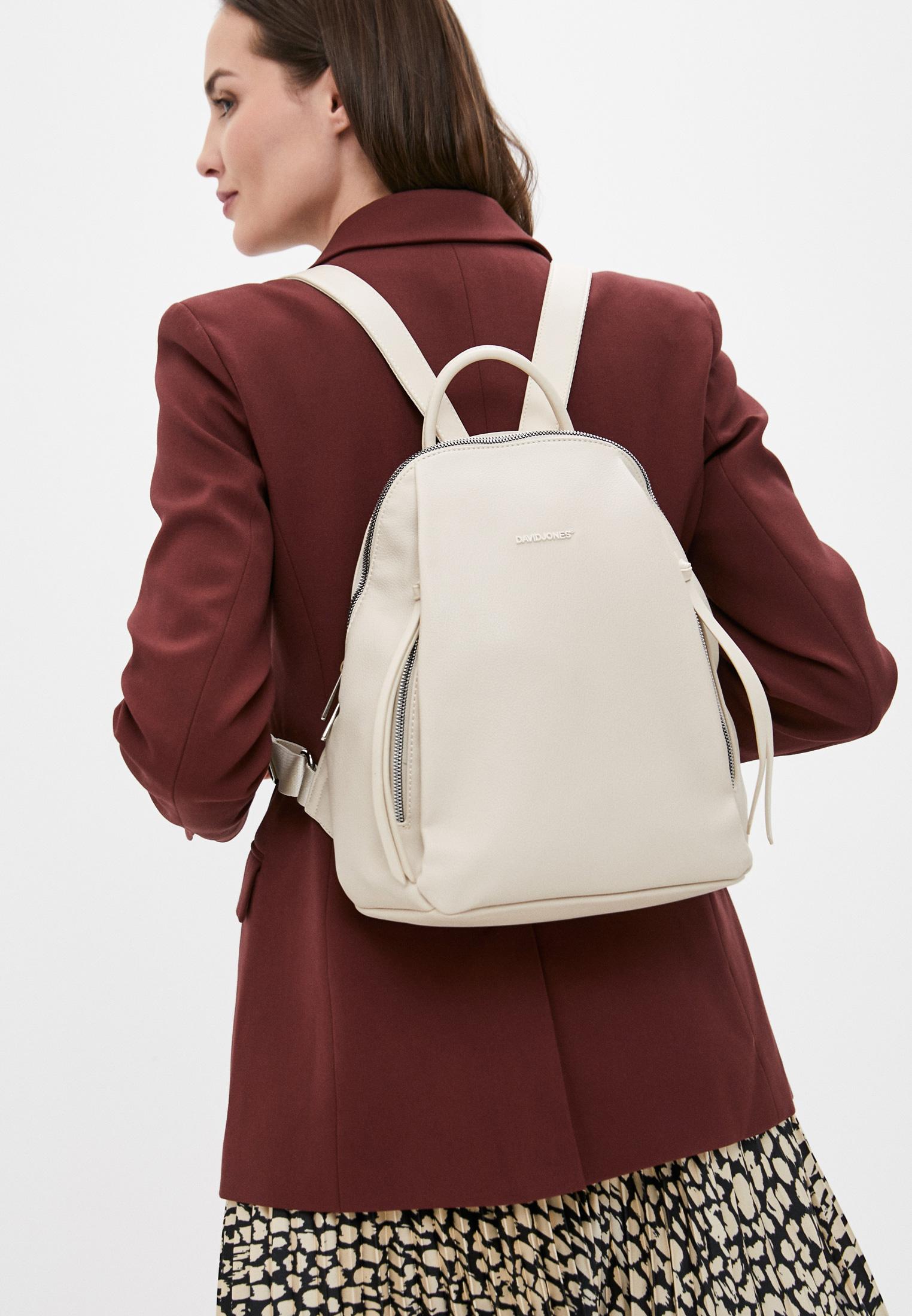 Городской рюкзак David Jones (Дэвид Джонс) CM6026_бежевый: изображение 4