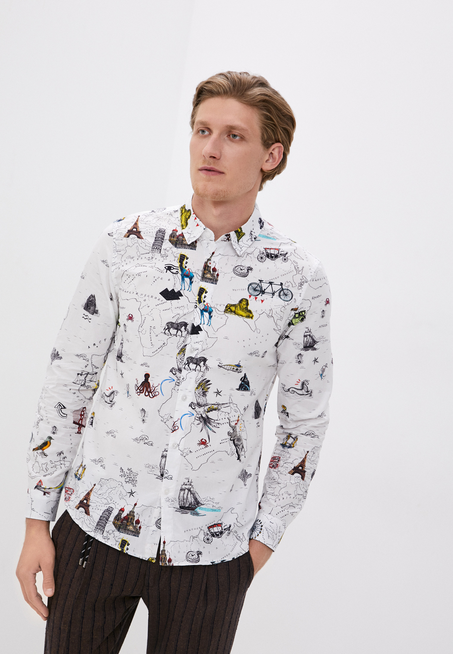 Рубашка с длинным рукавом Desigual (Дезигуаль) 20WMCW48