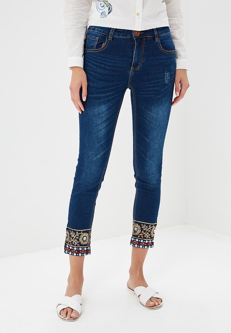 Зауженные джинсы Desigual (Дезигуаль) 18WWDD24