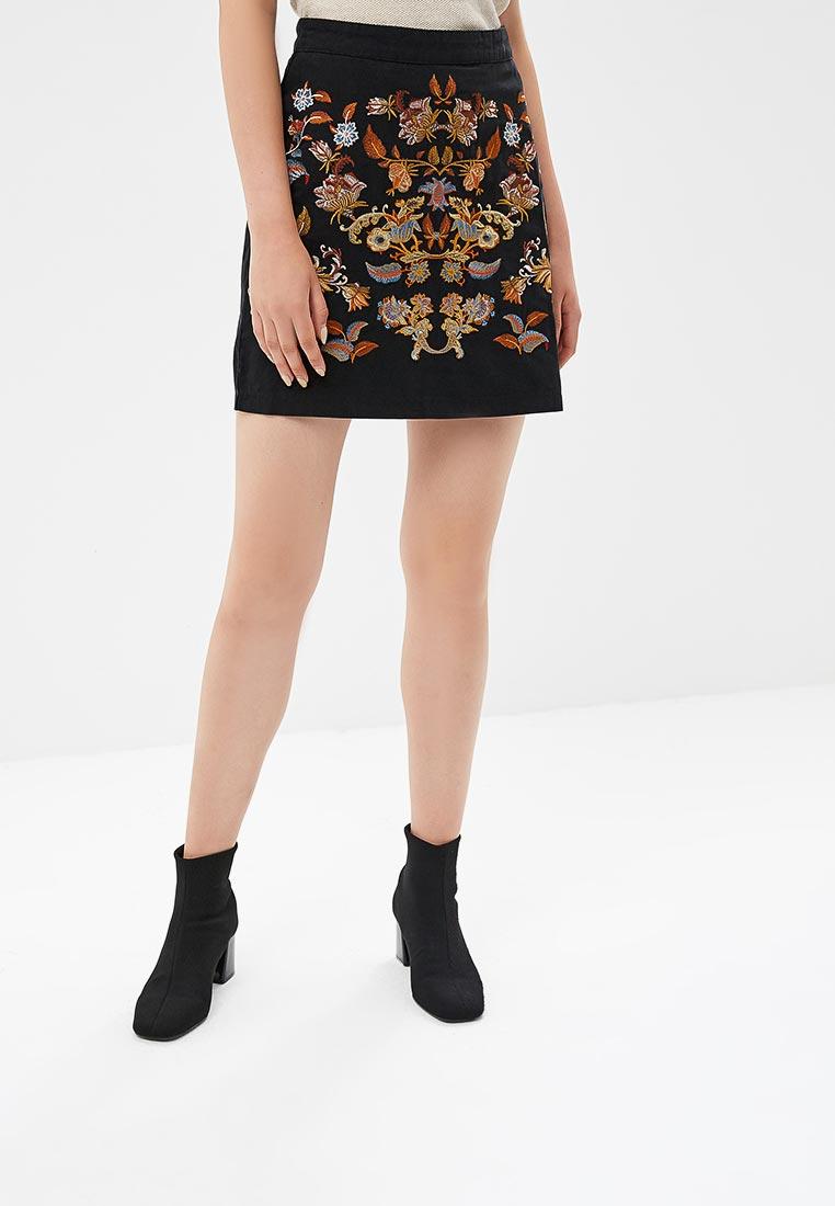 Прямая юбка Desigual (Дезигуаль) 18WWFW05