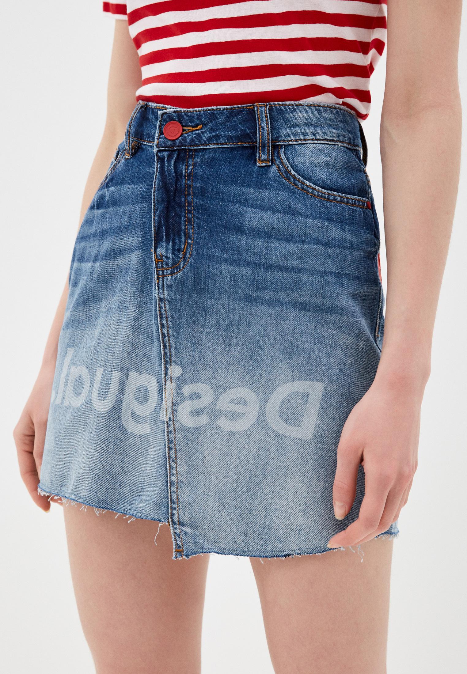 Джинсовая юбка Desigual (Дезигуаль) 20SWFD05