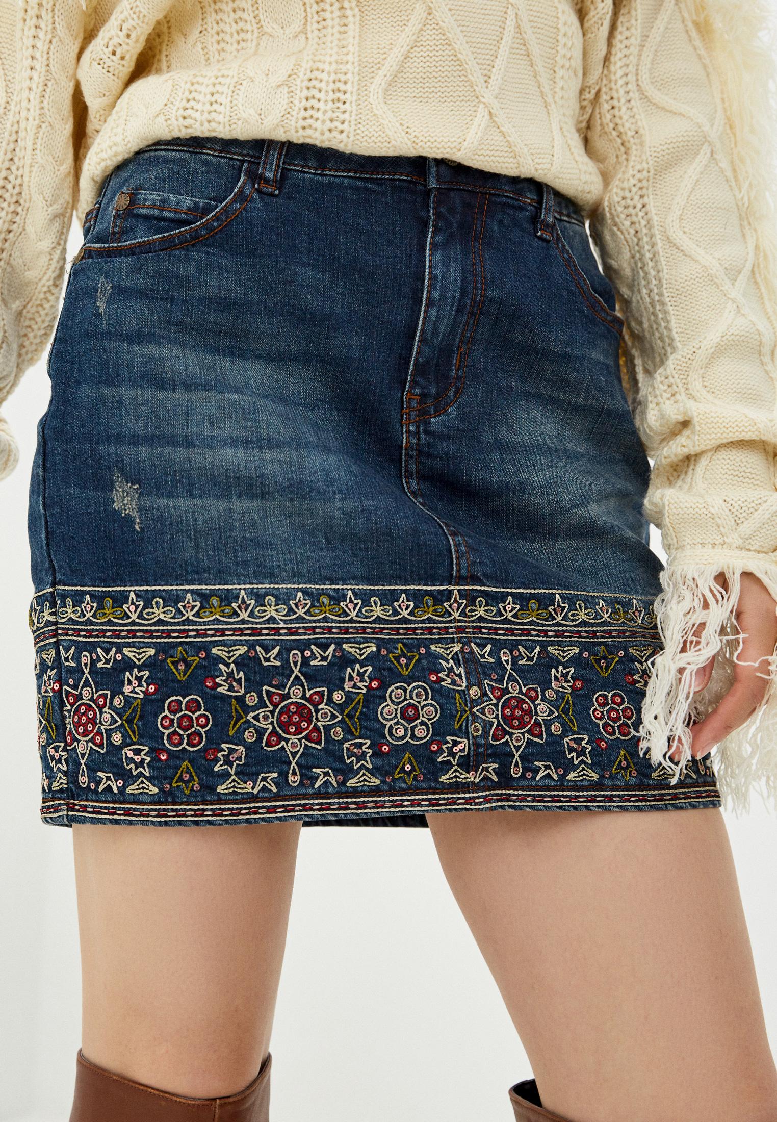 Джинсовая юбка Desigual (Дезигуаль) 20WWFD04