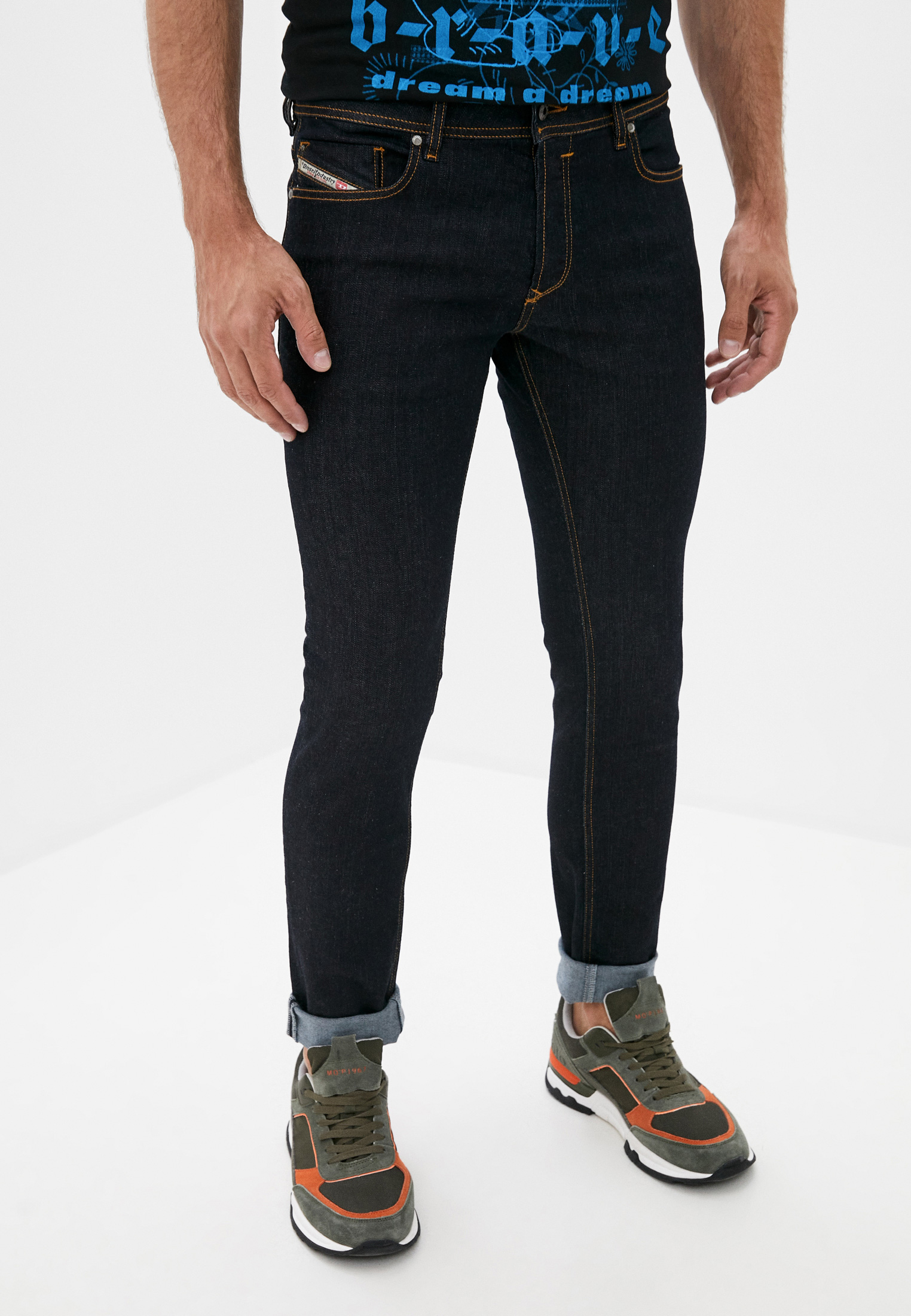 Мужские зауженные джинсы Diesel (Дизель) 00SYIDR0841